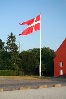 Free Danish Flag Royalty Free Stock Image - 4316816