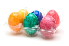 Free Six Colored Easter Eggs Stock Images - 4316854