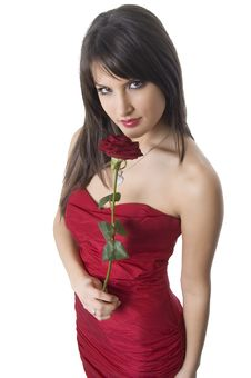 Free Girl And Rose Royalty Free Stock Photography - 4316927