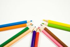Free Colored Pencils Royalty Free Stock Images - 4318309