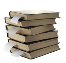 Pile Of Old Books Stock Image