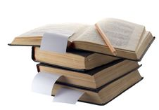 Pile Of Old Books Stock Photography