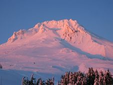 Free Mt Adams At Sunset Stock Image - 4319621