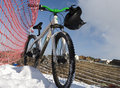Free Bike In Winter Over Blue Sky Royalty Free Stock Photography - 4328517