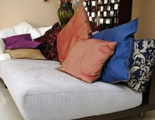 Free Sofa And Pillows Stock Image - 4320091