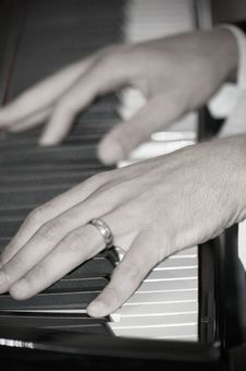 Free Playing The Piano Stock Photography - 4320092