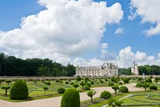 Free Chateau And Garden Chenonceau Royalty Free Stock Photos - 4321718