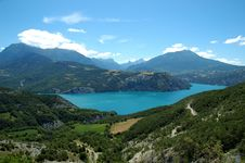 Beautifull Alpine Lake Stock Images