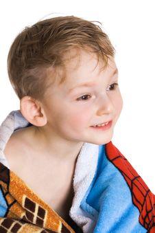 Free Kid In Bath Towel Stock Photos - 4322303