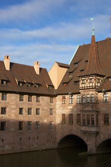 Hospital Of The Holy Spirit, Nuremberg Stock Image
