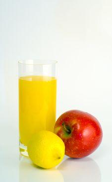 Free Glass Of Orange Juice On White Backgrou Stock Image - 4323971