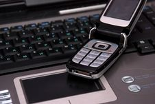 Free Keyboard Of Laptop And Smartphone On It. Stock Images - 4324824