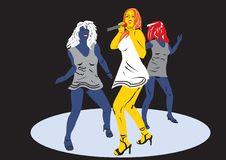 Dancing Girls Stock Image