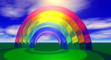 Sun And Rainbow Royalty Free Stock Photography