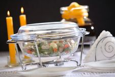 Free Dinner In Oven-proof Glass Royalty Free Stock Photo - 4325575