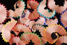 Free Colored Pencil Shavings Royalty Free Stock Photography - 4326347