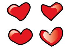 Free Four Hearts Royalty Free Stock Image - 4326406