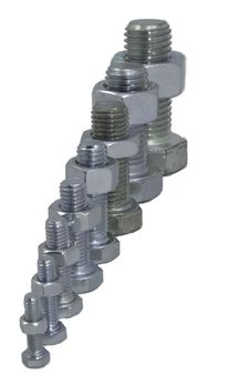 Free Hexagonal Bolts And Nuts Stock Photo - 4326740