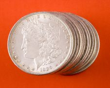 Free Morgan Silver Dollars Stock Images - 4327404