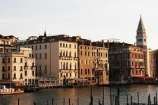 Free Venice, Italy - Water Front Facade Royalty Free Stock Image - 4328166