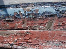 Free Red And Blue Cracked And Peeling Paint Royalty Free Stock Images - 4328319
