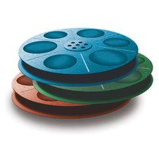 Free 3 Spools With Tape. Different Colors. Stock Photos - 4328813