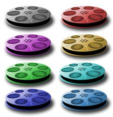 Free Spool With Tape. Different Colors. Royalty Free Stock Photos - 4328858