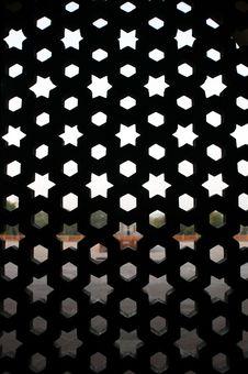 Free Pattern Window At Humayun Tomb, Delhi Stock Image - 4329431