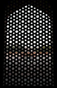Free Pattern Window At Humayun Tomb, Delhi Stock Photos - 4329433