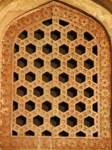 Free Pattern Window At Humayun Tomb, Delhi Royalty Free Stock Photo - 4329485