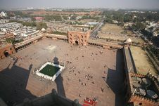 View From Minaret Tower AtJama Masjid Royalty Free Stock Photo