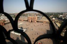View From Minaret Tower AtJama Masjid Royalty Free Stock Photography