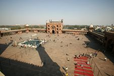 View From Minaret Tower At Jama Masjid Stock Photo