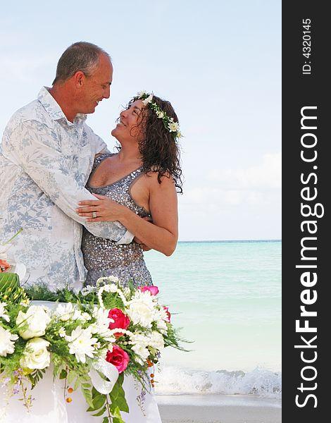 Wedding day on the beach