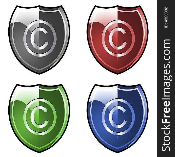 Shield With Copyright Symbol Free Stock Images Photos 4323382