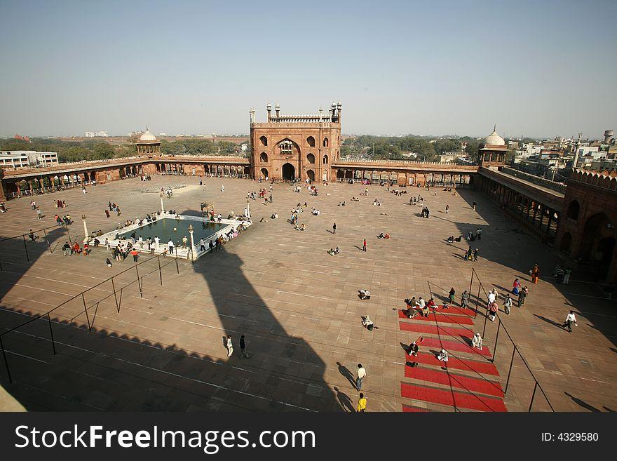 View from minaret tower at Jama Masjid