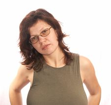 Free Woman In A Fitting Vest Royalty Free Stock Photo - 4330685