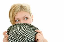 Free Woman Face Cover Hat Royalty Free Stock Photography - 4331067
