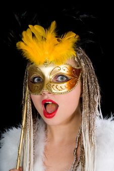 Free Portrait  Girl With Mask Royalty Free Stock Photography - 4331197