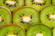 Kiwi Slices Background Stock Photography