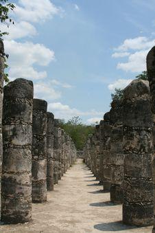 Free Chichen Itza Pillars Stock Photography - 4335062