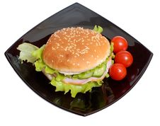 Free Humburger Royalty Free Stock Image - 4335646