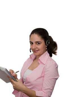 Pretty Girl Taking Notes Royalty Free Stock Image