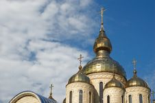 Free Golden Domes And Crosses Stock Photography - 4336262