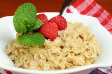 Free Oatmeal And Fruit Stock Image - 4337101