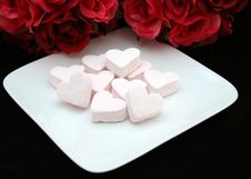 Free Pink Marshmallow Hearts Royalty Free Stock Photos - 4338208
