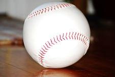 Free Baseball On Hardwood Stock Photography - 4338252