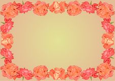 Free Background With The Scarlet Roses Ornament Frame Stock Image - 43389331