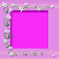 Free White Flowers Frame Royalty Free Stock Images - 4340009