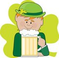 Free Leprechaun And Beer Royalty Free Stock Photography - 4347627